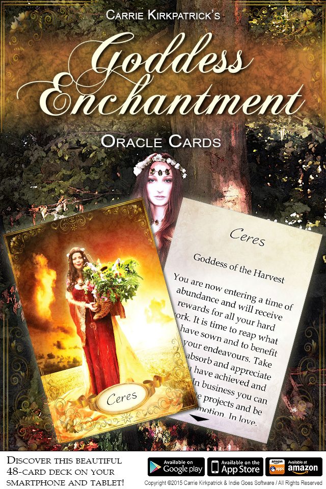 Goddess Enchantment Oracle Cards app now available!