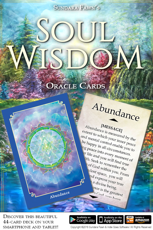 Soul Wisdom Oracle Cards app now available on Android, iOS and Amazon!