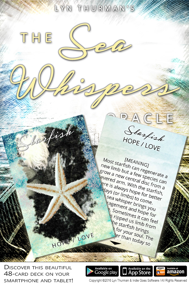 Sea Whispers Oracle Cards app now available on Android, iOS and Amazon!