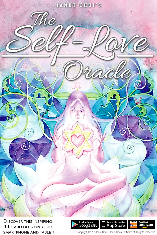 Self-Love Oracle Cards app now available on Android, iOS and Amazon!