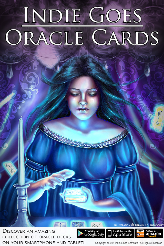Indie Goes Oracle Cards app now available on iOS, Android and Amazon!